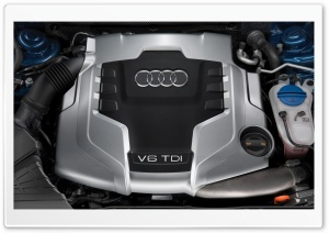 Audi V6 TDI Engine HD Wide Wallpaper for Widescreen