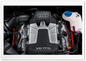 Audi V6 TFSI Engine HD Wide Wallpaper for Widescreen