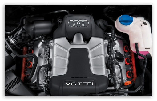 Audi V6 TFSI Engine HD wallpaper for Wide 16:10 5:3 Widescreen WHXGA WQXGA WUXGA WXGA WGA ; HD 16:9 High Definition WQHD QWXGA 1080p 900p 720p QHD nHD ; Mobile 5:3 16:9 - WGA WQHD QWXGA 1080p 900p 720p QHD nHD ;