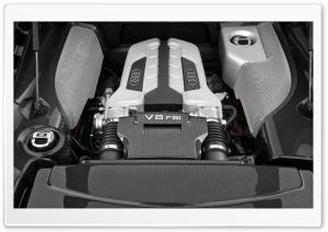 Audi V8 FSI Engine HD Wide Wallpaper for Widescreen