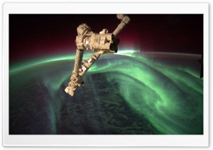 Aurora Australis - Nasa, International Space Station HD Wide Wallpaper for 4K UHD Widescreen desktop & smartphone