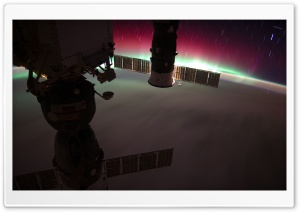 Aurora Australis, South Pacific, New Zealand - Nasa, International Space Station HD Wide Wallpaper for Widescreen