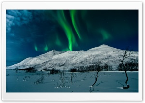 Aurora Borealis - Tromso, Norway HD Wide Wallpaper for 4K UHD Widescreen desktop & smartphone