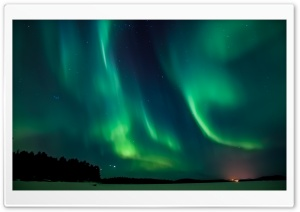 Aurora Borealis Sweden HD Wide Wallpaper for 4K UHD Widescreen desktop & smartphone