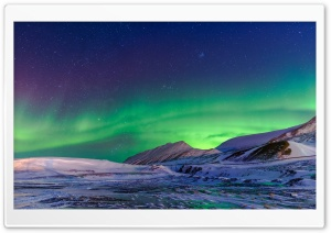 Aurora Borealis Winter Ultra HD Wallpaper for 4K UHD Widescreen desktop, tablet & smartphone