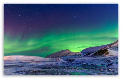 Aurora Borealis Winter Ultra Hd Desktop Background Wallpaper