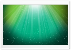 Aurora Burst Green HD Wide Wallpaper for Widescreen