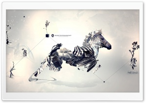 Aurrealism Art   Zebra HD Wide Wallpaper for Widescreen