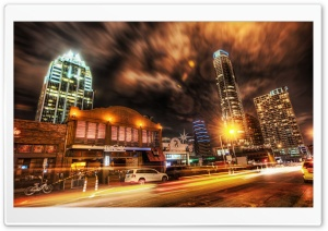Austin At Night, HDR HD Wide Wallpaper for Widescreen