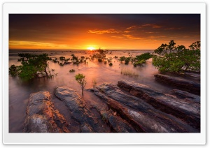 Australia Evening On The Coast HD Wide Wallpaper for Widescreen