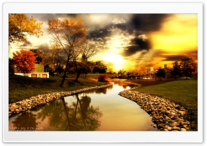 Autumn Day In The Park HD Wide Wallpaper for Widescreen