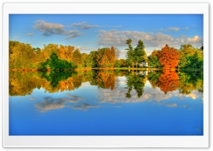 Autumn Lake HD Wide Wallpaper for 4K UHD Widescreen desktop & smartphone