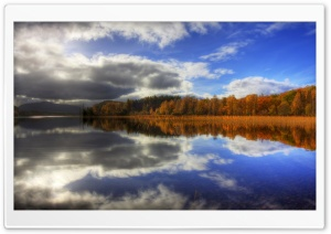 Autumn Lake Reflection HD Wide Wallpaper for 4K UHD Widescreen desktop & smartphone