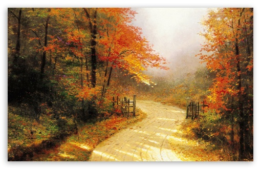 Autumn Lane By Thomas Kinkade HD wallpaper for Wide 16:10 5:3 Widescreen WHXGA WQXGA WUXGA WXGA WGA ; HD 16:9 High Definition WQHD QWXGA 1080p 900p 720p QHD nHD ; Standard 4:3 5:4 3:2 Fullscreen UXGA XGA SVGA QSXGA SXGA DVGA HVGA HQVGA devices ( Apple PowerBook G4 iPhone 4 3G 3GS iPod Touch ) ; Tablet 1:1 ; iPad 1/2/Mini ; Mobile 4:3 5:3 3:2 16:9 5:4 - UXGA XGA SVGA WGA DVGA HVGA HQVGA devices ( Apple PowerBook G4 iPhone 4 3G 3GS iPod Touch ) WQHD QWXGA 1080p 900p 720p QHD nHD QSXGA SXGA ; Dual 16:10 5:3 16:9 4:3 5:4 WHXGA WQXGA WUXGA WXGA WGA WQHD QWXGA 1080p 900p 720p QHD nHD UXGA XGA SVGA QSXGA SXGA ;