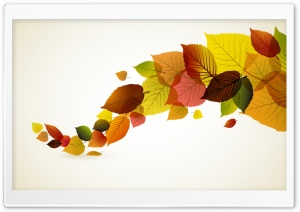 Autumn Leaves Background HD Wide Wallpaper for Widescreen