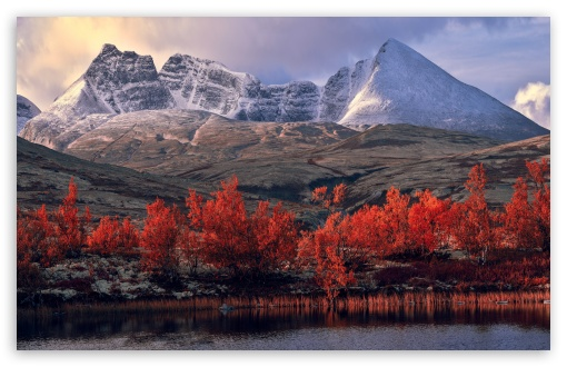 Autumn Mountains Scenery Ultra Hd Desktop Background
