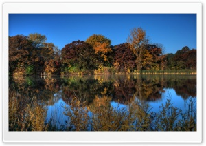 Autumn Pond, Eagan, Minnesota HD Wide Wallpaper for 4K UHD Widescreen desktop & smartphone