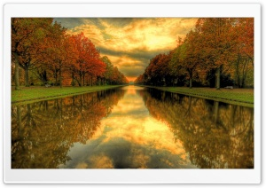 Autumn River HD Wide Wallpaper for Widescreen
