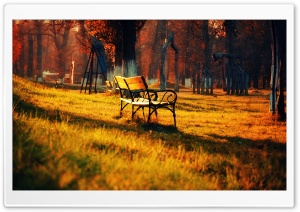 Autumn Walk In The Park HD Wide Wallpaper for Widescreen
