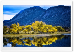 Autumn Yellow Trees Reflection, Palmer Lake HD Wide Wallpaper for Widescreen