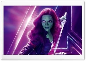Avengers Infinity War 2018 Movie Gamora HD Wide Wallpaper for 4K UHD Widescreen desktop & smartphone