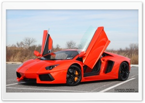 Aventador Doors Open HD Wide Wallpaper for Widescreen