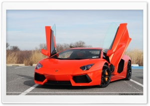 Aventador Doors Up HD Wide Wallpaper for Widescreen