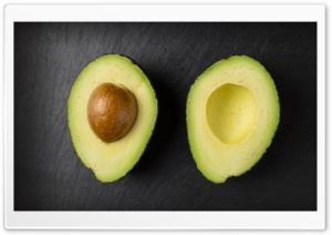 Avocado Cut in Half HD Wide Wallpaper for 4K UHD Widescreen desktop & smartphone
