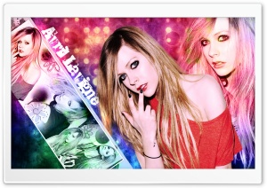 Avril Lavigne Colorful Background HD Wide Wallpaper for Widescreen