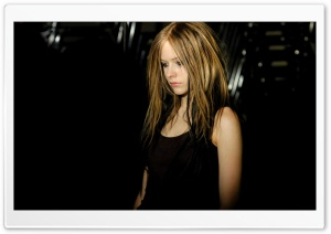 Avril Lavigne Dark HD Wide Wallpaper for Widescreen