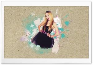 Avril Lavigne in Black Dress HD Wide Wallpaper for Widescreen