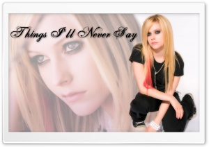 Avril Lavigne Things I'll Never Say HD Wide Wallpaper for Widescreen