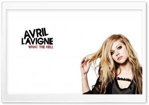 Avril Lavigne What The Hell HD Wide Wallpaper for Widescreen