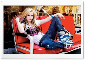 Avril Lavigne With Sneakers HD Wide Wallpaper for 4K UHD Widescreen desktop & smartphone