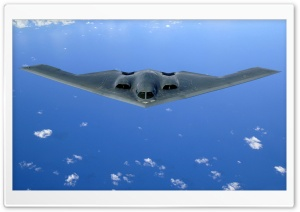 B2 Spirit Flying Over The Pacific Ocean HD Wide Wallpaper for Widescreen