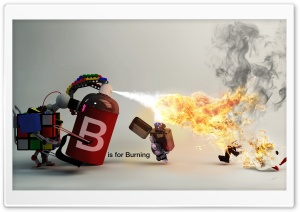B Is For Burning HD Wide Wallpaper for Widescreen