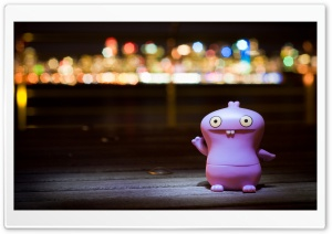 Babo Bathing In Bokeh HD Wide Wallpaper for Widescreen