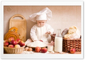 Baby Chef HD Wide Wallpaper for 4K UHD Widescreen desktop & smartphone