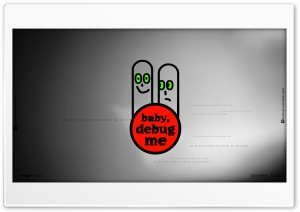 Baby Debug me HD Wide Wallpaper for Widescreen