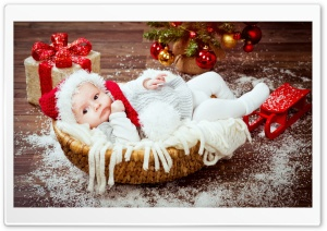 Baby Santa Ultra HD Wallpaper for 4K UHD Widescreen desktop, tablet & smartphone