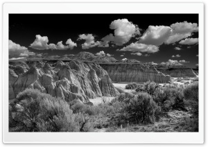 Badlands Black and White Ultra HD Wallpaper for 4K UHD Widescreen desktop, tablet & smartphone
