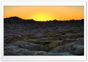 Badlands National Park Sunset, South Dakota HD Wide Wallpaper for 4K UHD Widescreen desktop & smartphone