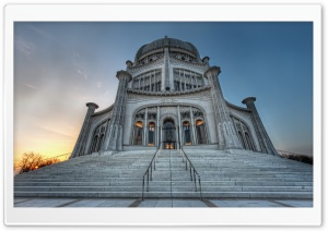 Baha'i House of Worship HD Wide Wallpaper for 4K UHD Widescreen desktop & smartphone