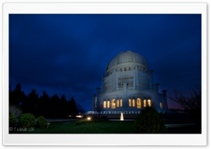 Baha'i Temple HD Wide Wallpaper for Widescreen