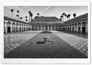 Bahia Palace Courtyard, Marrakesh, Morocco Ultra HD Wallpaper for 4K UHD Widescreen desktop, tablet & smartphone