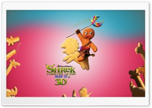 Bake No Prisoners, Gingerbread Man, Shrek Forever After HD Wide Wallpaper for 4K UHD Widescreen desktop & smartphone