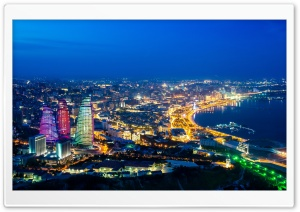 Baku Panorama HD Wide Wallpaper for Widescreen