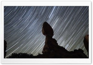 Balanced Rock Star Trail HD Wide Wallpaper for 4K UHD Widescreen desktop & smartphone