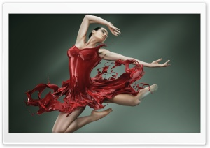 Ballerina Leap HD Wide Wallpaper for Widescreen