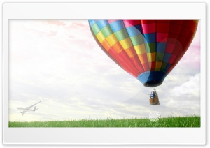 Balloon & Sky HD Wide Wallpaper for Widescreen